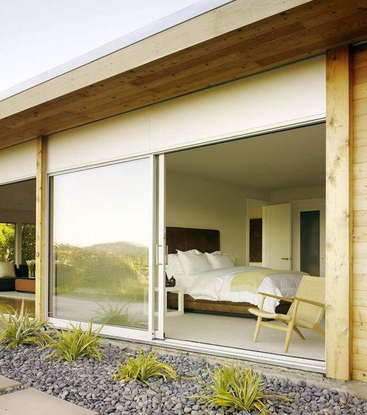 modern sliding glass door designs that connect the bedroom
