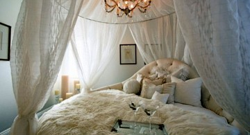 most romantic bedrooms with low chandelier