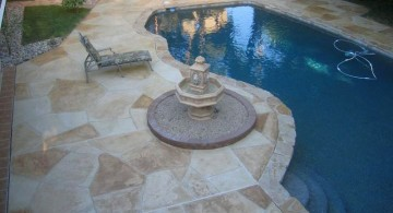 multi colored marble pool deck stone