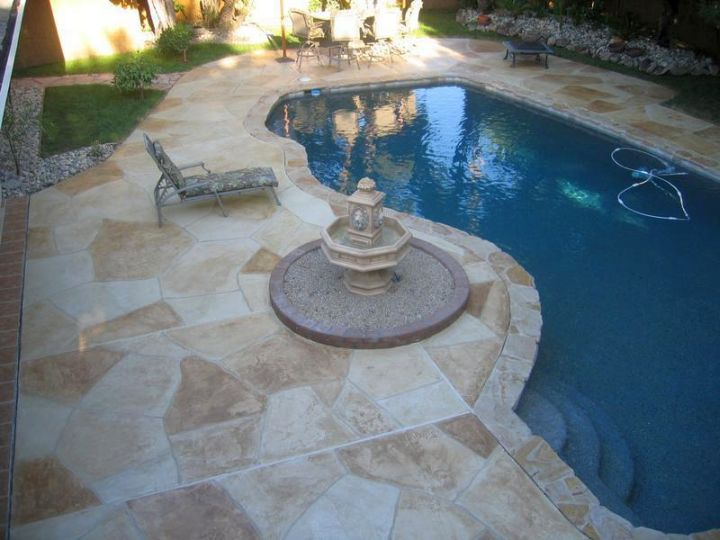 Marble Pool Decks : Fresh and natural pool deck stone inspirations