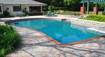 multicolored marble pool deck stone