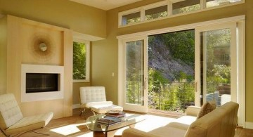 nature themed modern sliding glass door designs