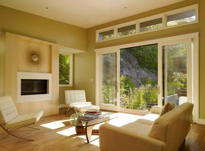 nature themed modern sliding glass door designs