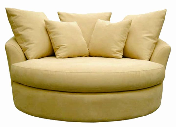Oversized Cream Round Reading Chair