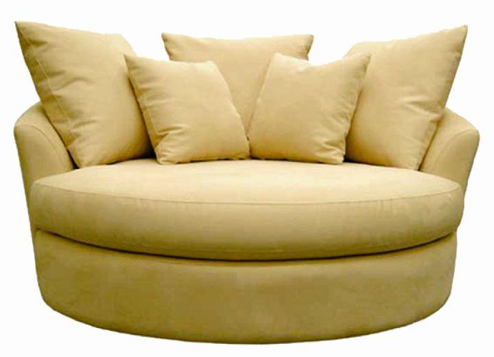oversized cream round reading chair