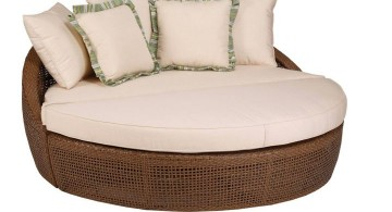 oversized white round reading chair