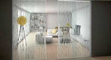 patterned modern sliding glass door designs
