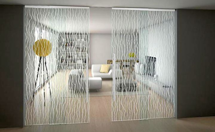 patterned modern sliding glass door designs
