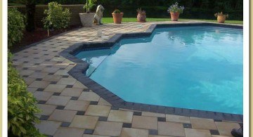 patterned pool deck stone