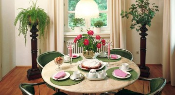 retro in green zen dining rooms