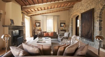 rustic and contemporary tuscan living room designs