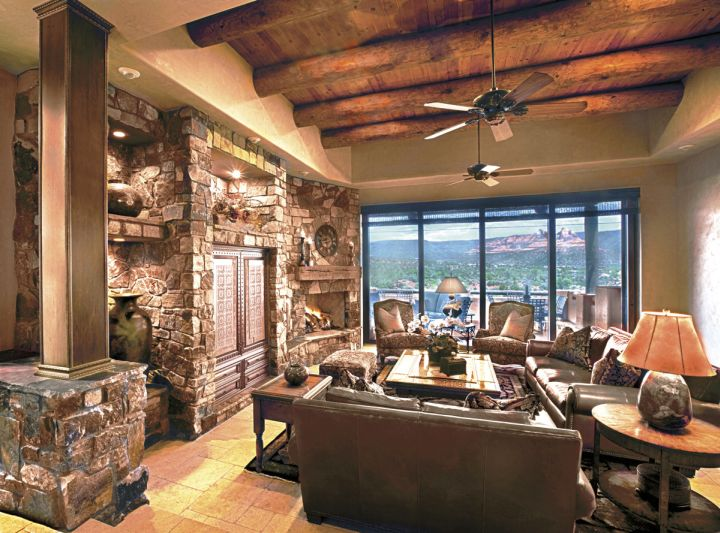 tag tuscan living room design