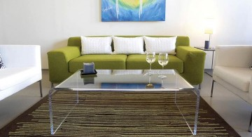 simple boxed acrylic coffee tables