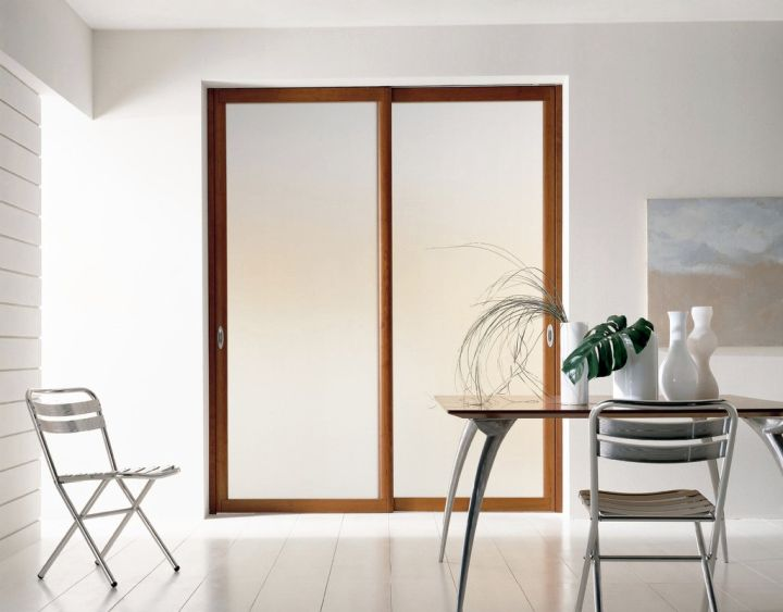 Minimalist modern sliding glass door designs for Modern glass pocket doors