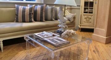 simple yet elegant acrylic coffee tables