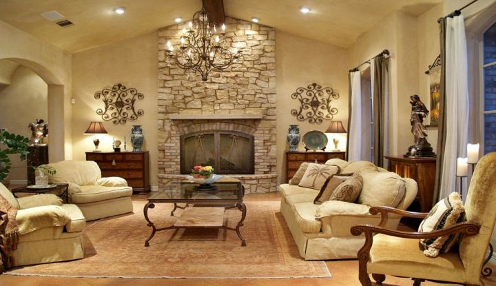 spacious and comfortable tuscan living room designs