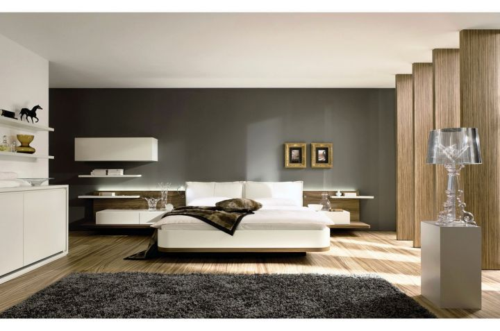 spacious cool modern bedrooms with wooden floor