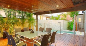 swimming pools for small spaces next to dining room