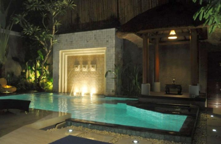 Swimming Pools For Small Spaces With Waterfall And