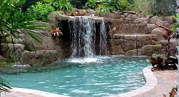 tall waterfalls for pools inground