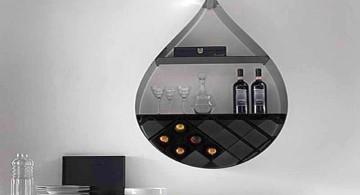 teardrop shaped elegant wall shelves