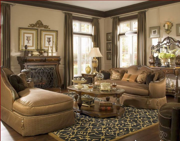 tuscan living room colors in beige and olive
