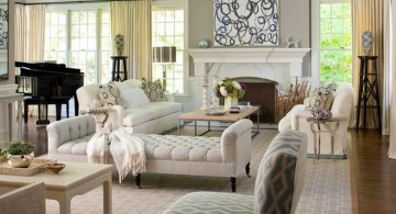tuscan living room colors in bright grey and white