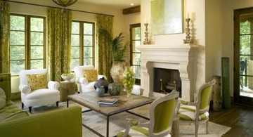 tuscan living room colors in green and white