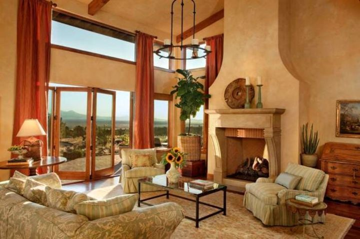 So What Do You Think About Tuscan Living Room Colors With Beige Walls And Terracotta Curtains Above It S Amazing Right Just Know That Photo Is
