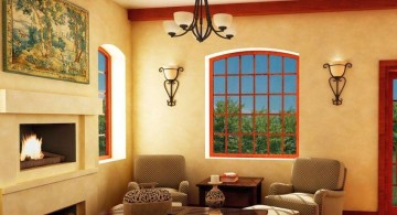 tuscan living room colors with cream walls and beige furniture