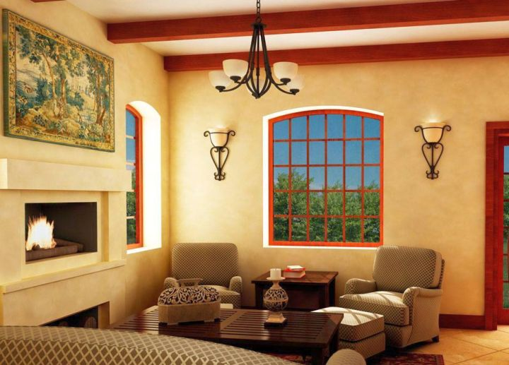 Tuscan living room colors with cream walls and beige furniture - Living room with cream walls ...