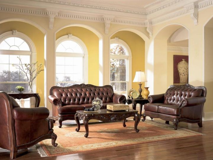 tuscan living room colors with dark furnitures