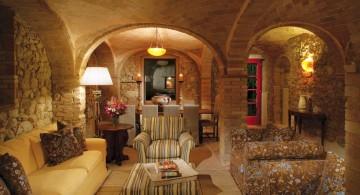 tuscan living room designs for basements