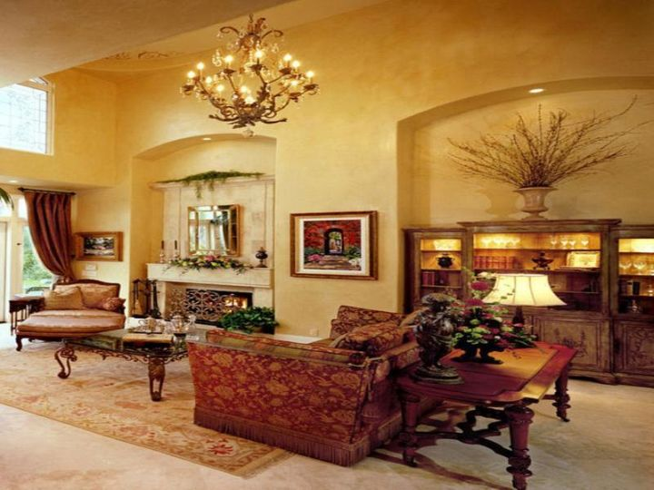 20 awesome tuscan living room designs for Tuscan decorations for home