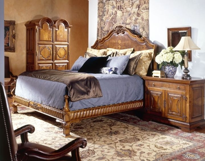 tuscany bedroom furniture with egg blue linen