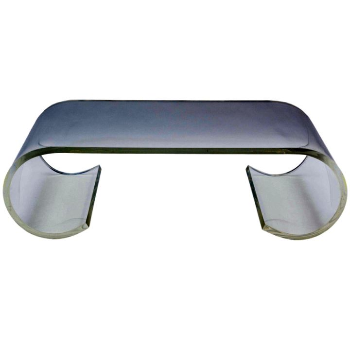 unique acrylic coffee tables with curls