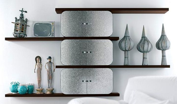unique elegant wall shelves with column divider