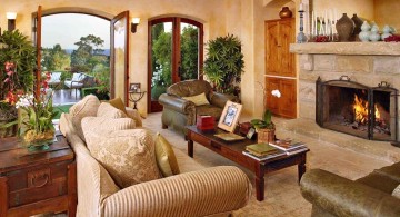 warm and cozy tuscan living room designs
