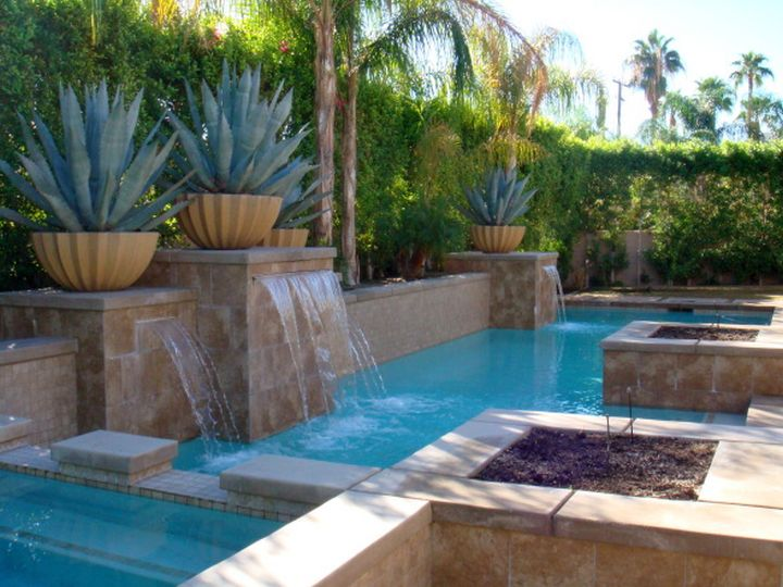 20 exquisite waterfalls designs for pools inground - Pool designs for small spaces ...