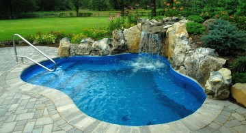 waterfalls for pools inground for small yard