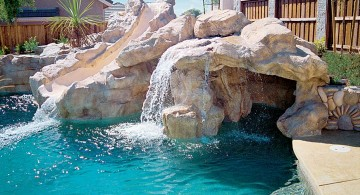 waterfalls for pools inground with natural stones