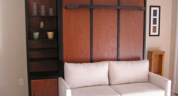 white murphy bed couch ideas attached to rustic cabinet