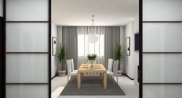 zen dining rooms in white