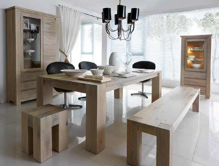 zen dining rooms in white with black pendant lamp accent