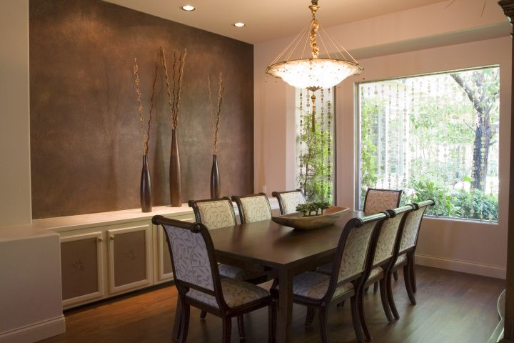 zen dining rooms with pendant lamp
