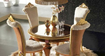 Classic and royal dining table chairs designs