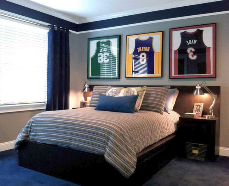 Cool Decorating Ideas for Teen Boys Using MVP Basketball ... on Cool Bedroom Ideas For Teenage Guys  id=91475