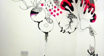 Flower and Bunny DIY Indoor Wall Painter