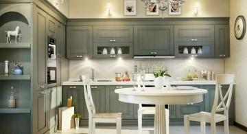 Ikea gray liquor kitchen cabinet for classy interior design
