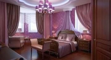 Inviting Luxury Bedroom with Dark Purple Color